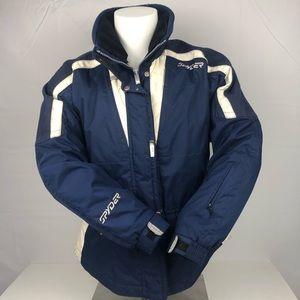 Spyder Blue White Winter Ski Snowboard Jacket Coat